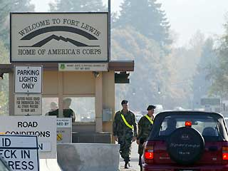 Entrance to Ft. Lewis Army Base, Washington State