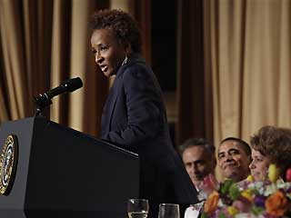 Wanda Sykes at White House Correspondence Dinner.