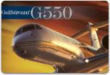 Image of a Gulfstream G550.