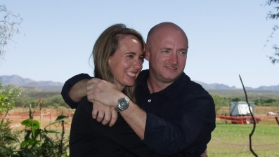Rep. Giffords with her husband Mark Kelly in Nov. 2007 via Foxnews.com from Reuters