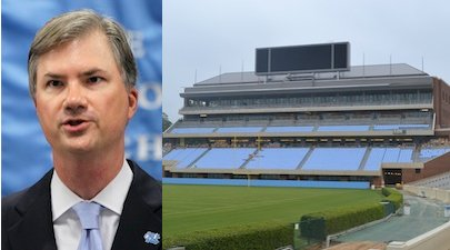 A graphic of Chancellor Thorp and Kenan Stadium via rivals.com