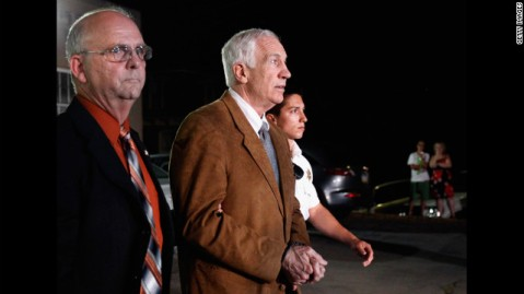 Jerry Sandusky the night of his conviction.