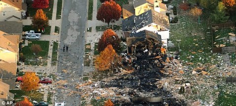 from AP:  Some of the homes lost in the Richmond Hill blast.
